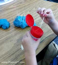 Develop fine motor skills with toothpicks