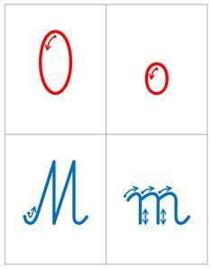 Kierunek kreślenia liter:     A , a   L , l  O , o  M , m  T , t  I , i   E ,  e  K , k  Y ,  y   J ,  j  S ,  s  D ,  d  R ,  r  W... Montessori, Therapy