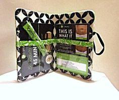 Make it work green black & white passport/card by WereCrafty, $15.00 ETSY WereCrafty
