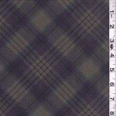 Army Green Plaid Sateen - Discount Fabrics