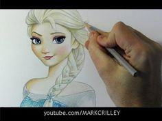 "Mark Crilley! ▶ Drawing Time Lapse: Elsa from ""Frozen"" - YouTube this is amazing!"