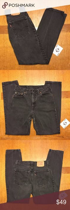 """Vtg Levi's 506 Reg Fit Straight Leg Jeans 10M #110 Vintage """"Made In The USA"""" Women's Levi's Reg Fit Straight Leg Black Jeans Size 10 Med.In Good Used Condition With Normal Wear-No Tears Or Stains.                               Measurements Laying Flat:                    Waist-29"""" Inseam-32"""" Hips-37"""" Thighs-18 Levi's Jeans Straight Leg"""