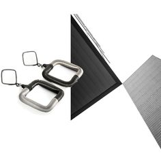 Black and silver contrast inspired by modern architecture. Our square earrings are available in black & silver, gold, black , silver and rose gold. Get it on http://www.industrial-jewellery.com/#!product-page/c1p9b/cad6c5f2-71c9-10d3-0bf8-f9317c58c25e