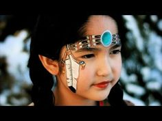 ▶ Native Indian American girl face painting tutorial - YouTube