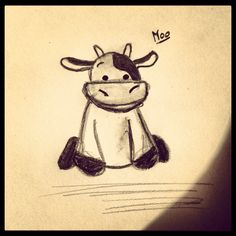 My very own cow drawing!