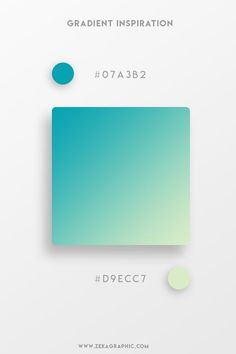 37 Beautiful Color Gradients For Your Next Design Project Beautiful Gradient Color Palettes - Teal Graphic Projects, Web Design Trends, Graphic Design Tutorials, Web Design Inspiration, Color Inspiration, Design Design, Web Design Color, Creative Inspiration, Flat Color Palette