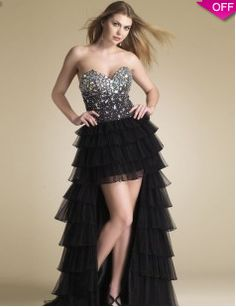 Arrival Evening Dresses Black High-Low Beading   Sequince Sweetheart A-line  ec8545d73dbf