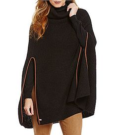 Lauren Ralph Lauren Waffle Capelet with Suede Trim #Dillards