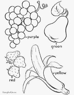 Fruit Coloring Pages Free Printable Easy peasy Free printable