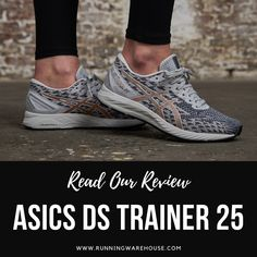 Read our in-depth multi-tester review of the ASICS DS Trainer 25, a lightweight trainer that offers responsive cushioning with a sleek-knit upper. - Shop with Free Shipping and Free Returns at Running Warehouse! - #comfort #best #top #training #workout #health #fitness #footwear #shoes #jog #walk #nike #newbalance #hoka #altra #brooks #adidas #marathon #athletic #exercise #style #fashion #outfit #clothes #gym #sneakers Stability Running Shoes, Running Shoe Reviews, Increase Flexibility, Footwear Shoes, Asics Shoes, Marathon, Jogging, Style Fashion
