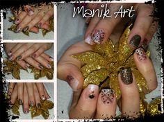 #nail #nailart #gelnail #design #blackgold #blingbling #christmas