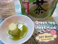 DIY Beauty: 5 ways to use green tea on your face, by Sesame. Use green tea powder: soak into a sheet mask; toner; yogurt or honey mask; face wash; cold rinse.