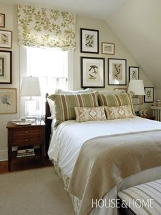 bedrooms with slanted ceilings, cottage | colour is traditionally the study homes rooms rooms images include