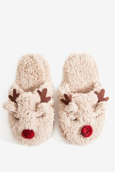 Women's Socks | Raindeer Sherpa Slippers | A'GACI