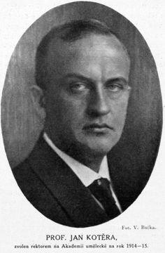 Jan Kotěra 1914 Bufka Volné dílo  Vladimír Jindřich Bufka – Zlatá Praha, year 1913-14, issue 37, digitized by Czech Academy of Sciences  Photograph of Jan Kotěra (1871—1923), Czech architect