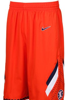 Illinois Fighting Illini Orange Woven Basketball Shorts by Nike