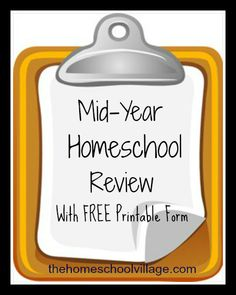 Mid-Year Homeschool Review (w/ FREE printables) - such a smart idea