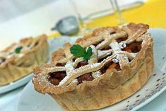 Őszibarackos rácsos pite