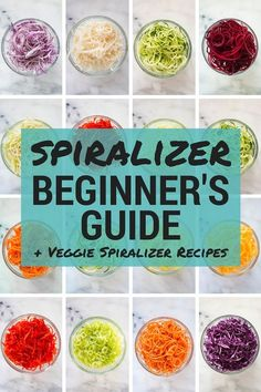 Veggie Spiralizer Recipes Spiralizer Beginners Guide Easy Veggie Spiralizer Recipes A Sweet Pea chef Spiralized Veggie Recipes, Zoodle Recipes, Spiralizer Recipes, Vegetarian Recipes, Cooking Recipes, Healthy Recipes, Kitchen Aid Spiralizer, Veggeti Recipes, Punch Recipes