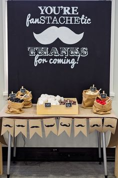 Black & White Mustache Birthday Party | Kara's Party Ideas