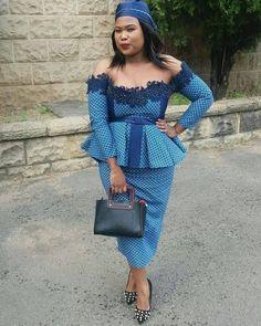 Fashion Tips Shirts Traditional Shweshwe Styles for Ladies.Fashion Tips Shirts Traditional Shweshwe Styles for Ladies African Wedding Attire, African Attire, African Wear, African Dress, Ankara Dress, African Print Fashion, African Fashion Dresses, African Prints, Seshoeshoe Designs