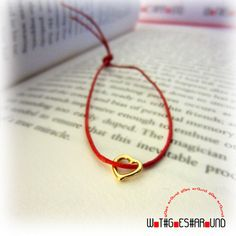 ❤ Wot Goes Around Tiny Gold Heart Charm Red String of Fate Friendship Love Bracelet NEW £15    http://myworld.ebay.co.uk/wot.goes.around/