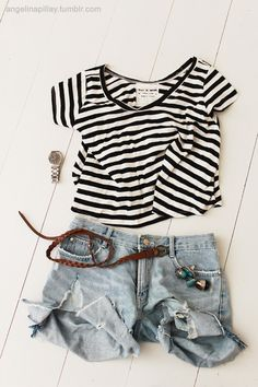 AAS: Backpacking in Europe? Pack the essentials: 1. Striped top 2. Cropped Skinny Jeans 3. Cream Skirt 4. Grey Tee 5. Denim Jacket 6. Flat Shoes 7. White Button up