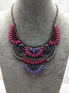 2014 New Desing Lady Bib Statement Neon Multi Acrylic Necklace Collar Hot | eBay