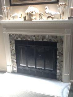 Diy Tile Over Marble Fireplace Makeover I Wonder If I Can