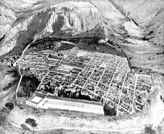 Plan of ancient Greek city of Priene