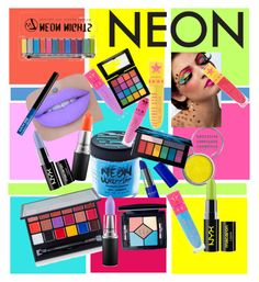"""Neon makeup"" by anna-spencer04 ❤ liked on Polyvore featuring beauty, Obsessive Compulsive Cosmetics, Medusa's Makeup, MAC Cosmetics, NYX, Jeffree Star, Anastasia Beverly Hills, Smashbox and Christian Dior"