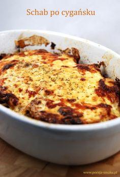 Schab po cygańsku (Pork Loin in Gypsy style - recipe in Polish) Lamb Recipes, Keto Recipes, Dessert Recipes, Cooking Recipes, Polish Recipes, Pork Dishes, I Foods, Love Food, Food To Make