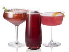 Cranberry Cocktails from Geoffrey Zakarian: Cran-Rosemary Sparkler, Cranberry Kir Royale and NYC Cosmopolitan