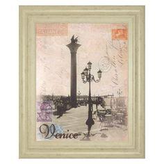 Classy Art Venice Travelogue Framed Wall Art - 8229