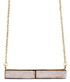 Dusted Drusy Bar Necklace | Leif
