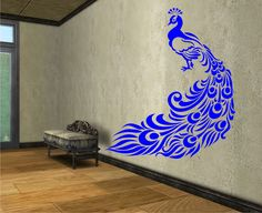 Peacock Vinyl Wall Decal Sticker Art Decor Bedroom Design Mural by StateOfTheWall on Etsy https://www.etsy.com/listing/218722632/peacock-vinyl-wall-decal-sticker-art