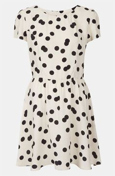 Similar to the Skater dress Kate wore to Warner Brothers Studios opening 4.26.2013 Topshop Florence Polka Dot Dress available at #Nordstrom