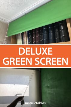 Install a deluxe green screen for your work from home calls that easily rolls out of the way when not in use. #Instructables #office #recording #photography #webcam Blinds For You, Blinds For Windows, Green Screen Backgrounds, Old Wallpaper, Plastic Film, Sensory Activities, Photography Projects, Downlights, Cool Suits