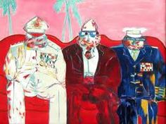 Three military types on a couch by Robert Hodgins South African Artists, Paintings I Love, Art Studies, Various Artists, Artist Art, Printmaking, Modern Art, History, Anime