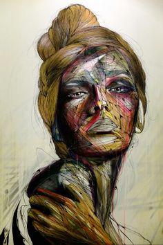 Hopare - street art expo - paris 14, woman, female, surreal, beauty, art, photograph, photo