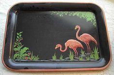 I collect flamingo items, and was happy to find this painted flamingo tray at a yard sale. Oldschool, Yard Sale, Pink Flamingos, Vintage Stuff, Trays, Amanda, Art Deco, Faith, Retro