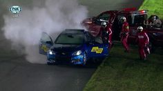 Chevy SS pace car goes up in flames at Sprint Unlimited