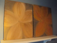 Flower Shadows acrylic painting by HunnybearsandTrees on Etsy