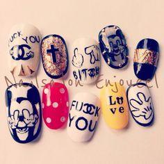 他のネイル画像1 599748 キャラクター その他 ソフトジェル ハンド Mickey Nails, Korean Nails, Animal Nail Art, Nail Inspo, Nail Tips, Nails Inspiration, You Nailed It, Hair And Nails, Nail Art Designs
