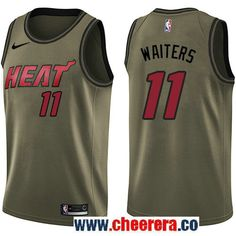 Men s Nike Miami Heat  11 Dion Waiters Green Salute to Service NBA Swingman  Jersey Jerian 18d818382
