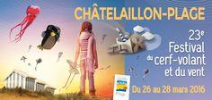 Festival de cerf-volant et du vent de Châtelaillon-Plage samedi 26 au lundi 28 mars 2016  - Châtelaillon - Office de Tourisme