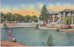 Fort Stockton Texas Comanche Spring Pool by postcardsofthepast