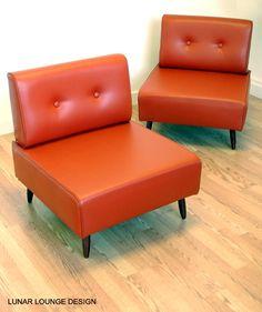 Bokz button back lounge chair  Mid Century Retro Vintage Eames Era Design on Etsy, $500.00