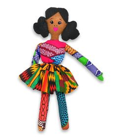 Little Miss Rue - Zuri Doll by www.quellyruedesigns.com