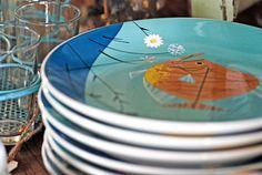 Charley Harper Fish Plate